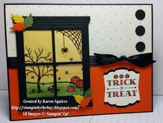 Stampin' By The Bay: Trick or Treat Window Scene