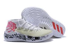new style b703a a4bfd Latest adidas Dame 4 White Black-Rose Flowers Air Max Sneakers, Shoes  Sneakers,