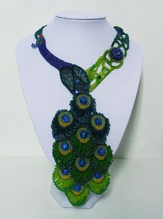 peacock necklace by Sigel