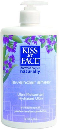 Kiss My Face: Moisturizer, Lavender & Shea Butter 16 oz (2 pack) by Select Nutrition. $22.87. DOUBLE VALUE PACK! You are buying TWO of Kiss My Face - Lavender & Shea Butter Moistizer, 16 fl oz lotion. Quantity: MULTI VALUE PACK! You are buying Description: LAVNDER BUTTER MOIST Unit Size: 16 OZ Brand: KISS MY FACE. Lavender & Shea Butter Moisterizer. We're very proud of this superb and effective moisturizer. We combine Lavender's calming, relaxing, and balan...