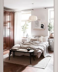 my scandinavian home: Angela's Inspiring Light-Filled Munich Home (With The Cutest Snoozing Pup!) Home Bedroom, Room Decor Bedroom, Bedroom Apartment, Bedroom Signs, Master Bedrooms, Bedroom Ideas, Bedroom Rustic, Bed Room, Studio Apartment