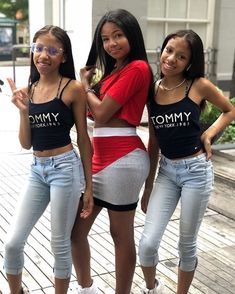 Image may contain: one or more people, people standing and shoes Matching Outfits Best Friend, Best Friend Outfits, Best Friend Goals, Cute Black Babies, Pretty Black Girls, Beautiful Black Girl, Black Girl Swag, Black Girl Weave, Twin Girls Outfits