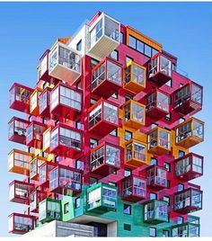 Apartment building concept 20 Ideas for 2019 Unusual Buildings, Colourful Buildings, Interesting Buildings, Amazing Buildings, Architecture Design, Futuristic Architecture, Beautiful Architecture, Minimal Architecture, Pavilion Architecture