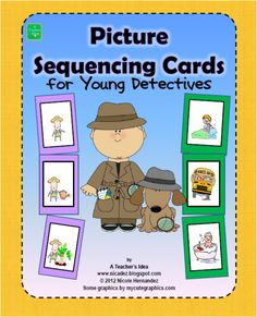 Picture Sequencing Cards for Young Detectives product from A_Teachers_Idea on TeachersNotebook.com