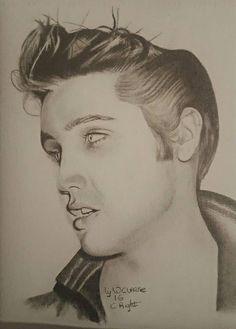 Beautiful drawing of 1956 ELVIS PRESLEY by © Warren Clarke   See more of his beautiful Elvis drawings on  https://www.facebook.com/warren.clarke.9066/media_set?set=a.268704319982827.1073741827.100005297838042&type=3