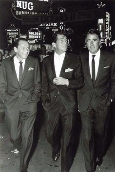 Rat Pack leaders Frank, Dean, and Peter at the Vegas movie premiere of Ocean's 11 - Las Vegas, 1960