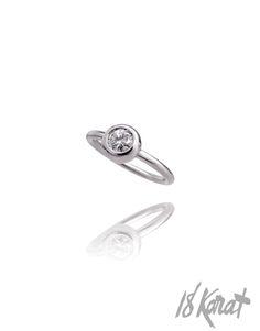 Diamond Donut Engagement Ring   18Karat