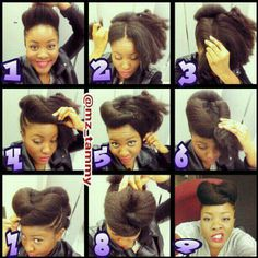 I love tutorials. Sharing in the natural hair community IS what floats! #Natural