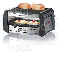 Grill & Toaster: S/Steel: Severin