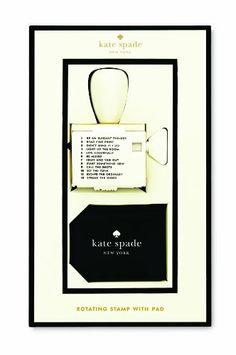 Kate Spade Rotating Stamp & Pad