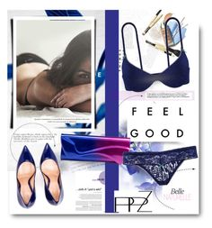 """""""Feel Good with PPZ.COM"""" by hamaly ❤ liked on Polyvore featuring moda, Christian Louboutin, Gianvito Rossi, outfit, ootd, lingerie, waystowear i PPZ"""