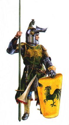 Cavaliere italiano, fine XIV secolo