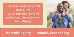 Use your outside voice and talk about CHIP! Give MomsRising a call at 1-888-668-8919.