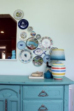 Decorating With Souvenir plates!  Turns out they're not cheap looking after all!