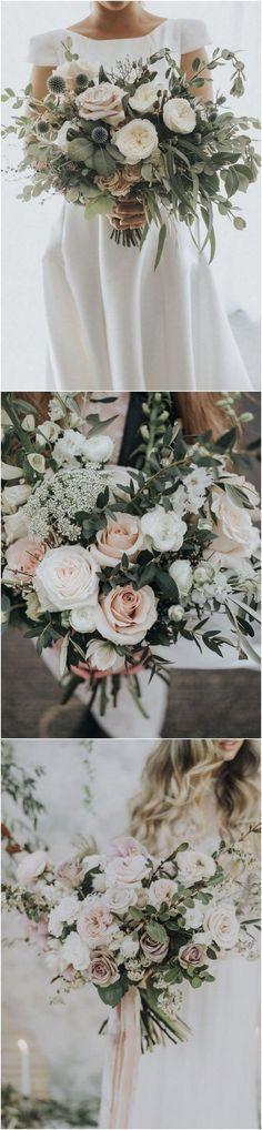 20 Gorgeous and Trendy Greenery Wedding Bouquets - EmmaLovesWeddings - greenery and blush pink wedding bouquets 1 - Our Wedding, Dream Wedding, Trendy Wedding, Spring Wedding, Wedding Arrangements, Floral Arrangements, Bridesmaid Bouquet, Wedding Bouquets, Floral Wedding