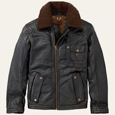 Timberland for men's leather jackets - ranger jackets for guys who love the outdoors.