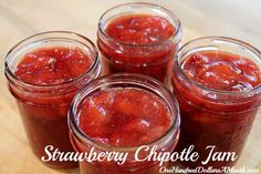 Strawberry Chipotle Jam canning recipe