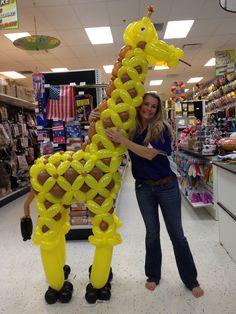 Large Balloon Giraffe