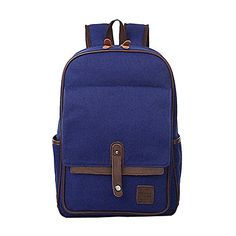 Artone Water Resistant Canvas Backpack Casual Travel Daypack Deep Blue >>> Learn more by visiting the image link.