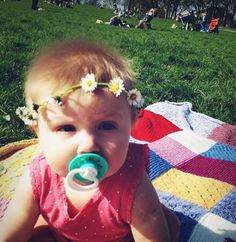 Baby Lux with a flower crown! (Even though she's a little older now) <3