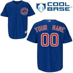 Chicago Cubs Customized Authentic Blue Alternate Cool Base MLB Jersey