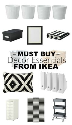 Must buy (afforadable!) decor essentials from IKEA. Decorating Your Home, Diy Home Decor, Buy Decor, Ikea Must Haves, Ikea Shopping, Diy Zimmer, Diy Casa, Ikea Home, Ikea Furniture