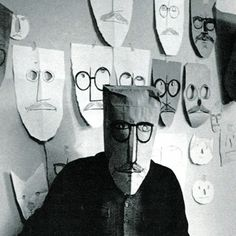 Saul Steinberg (1914-1999) is not easy to categorize within the world of art. His work resides somewhere between cartoons and art galleries, and somewhere between the written word and the picture. In fact, Steinberg considered himself a writer who happened to draw. He enjoyed the visual pun, and he made his line work pass through many dimensions.