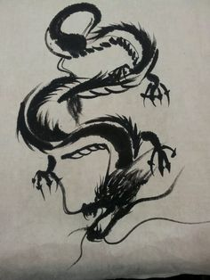 dragon - Famous Last Words 3d Dragon Tattoo, Watercolor Dragon Tattoo, Dragon Tattoo Designs, Dragon Oriental, Chinese Zodiac Dragon, Dragon Silhouette, Dragon Illustration, Dragon Artwork, Forearm Tattoo Design