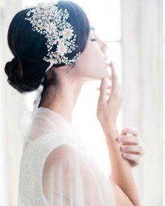 Свадебная прическа низкий пучок на каре