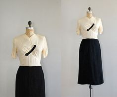 40s dress / 1940s dress / This Way and That by DearGolden on Etsy, $120.00