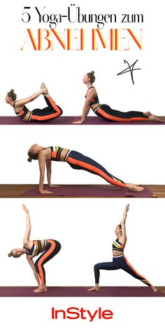 Slim with Yoga: The Best Yoga Exercises for Weight Loss- Schlank mit Yoga: Die besten Yoga-Übungen zum Abnehmen Losing weight with yoga: The five best exercises weight - Cardio Yoga, Bikram Yoga, Fitness Workouts, Fitness Del Yoga, Gym Fitness, Health Fitness, Quick Weight Loss Tips, Yoga For Weight Loss, Ways To Lose Weight