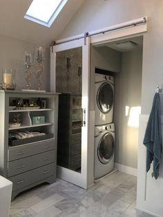 82 Remarkable Laundry Room Layout Ideas for The Perfect Home Drop Zones Master bathroom laundry & water closet Laundry Room Layouts, Laundry Room Bathroom, Small Laundry Rooms, Laundry Room Design, Small Bathroom, Bathroom Ideas, Bathroom Organization, Master Bathrooms, Bathroom Marble