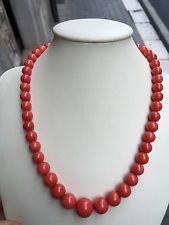 Collana necklace coral Corallo rosso sardo sardinia  natural  gr 48