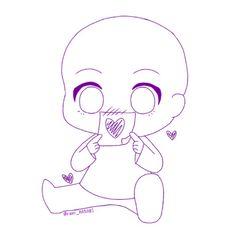 Drawing Base, Manga Drawing, Anime Drawings Sketches, Cute Drawings, Chibi Sketch, Poses References, Art Poses, Drawing Reference Poses, Cute Art