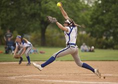 Lower Dauphin #1 pitcher Ava Bottiglia on the mound.  Lower Dauphin clinched its ninth Mid-Penn Keystone title in a row on Wednesday with a 10-2 win over Mechanicsburg.   Daniel Zampogna, PennLive