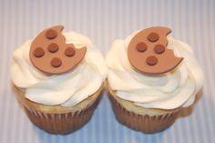 Fondant cupcake toppers Mini Chocolate by HarrietsHouseofCakes, $12.95