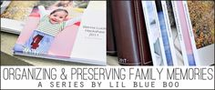 how to organize, print, and back up years worth of photos via lilblueboo.com