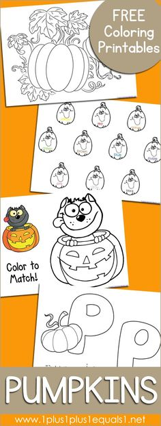 Free Pumpkin Coloring Printables