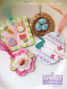 Easter and Spring!  Lianne and Paul Stoddard have amazing talent and offer so much inspiration.  This entire page from Swirly Designs Blog is full of fun spring project ideas.