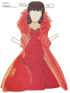 Paper Dolls~Scarlett - Bonnie Jones - Álbuns da web do Picasa Paper Toys, Paper Crafts, Literary Characters, Cool Coloring Pages, Gone With The Wind, Vintage Paper Dolls, Retro Toys, Madame Alexander, Art Pages