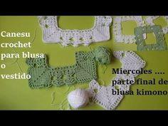Canesu  crochet para blusa o vestido niñas - YouTube