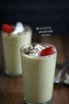 Healthy Shamrock Shake #dairyfree #vegan #shamrockshake