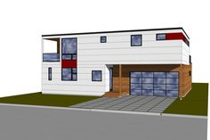 Modern Style House Plan - 3 Beds 2.50 Baths 2199 Sq/Ft Plan #909-8 Exterior - Front Elevation - Houseplans.com