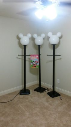 Mickey Mouse Street Lamps. I Built Them For My Family To Use Camping At  Disneyu0027s