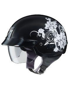 2014 HJC IS-2 Blossom Women's Motorcycle Helmets-Silver