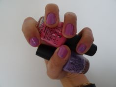 Opi Water Marble Nail art : pink and purple. O.P.I #ifyoumoustyoumoust (if you moust you moust) and #doyoulilac (do you lilac)