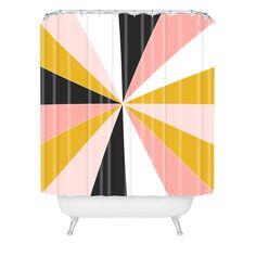 Caroline Okun Pinwheel Shower Curtain | DENY Designs Home Accessories