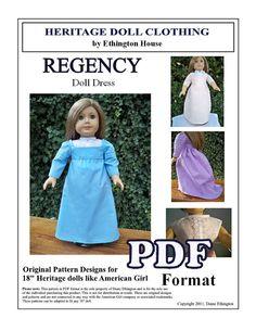Regency Early 1800s Dress with Chemisette PDF by MotherofNine, $6.00
