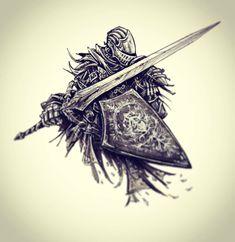 Inktober Day Oscar of Astora from Dark Souls (cover variation) Dark Drawings, Cool Drawings, Oscar Of Astora, Seele Tattoo, Arte Dark Souls, Grand Chase, Stylo Art, Soul Saga, Bloodborne