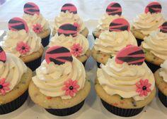 Pink Zebra Birthday Cupcakes
